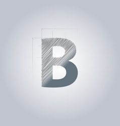 Letter b logo alphabet logotype architectural vector