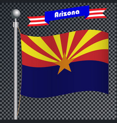 National flag of arizona vector