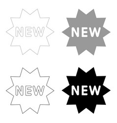 New symbol the black and grey color set icon vector