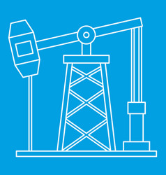 Oil pump icon outline style vector