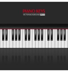 Piano keys background vector