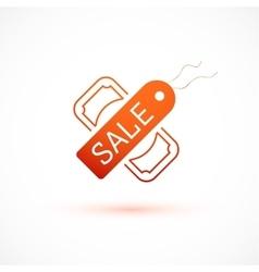 Sale symbol tag and dollar icon vector