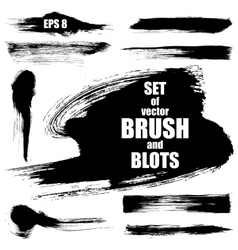 Set of brush vector