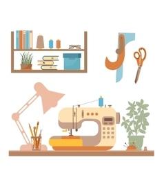 Sewing workshop concept vector