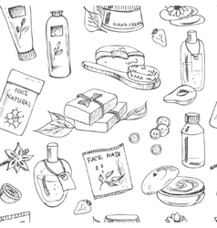Spa beauty and care seamless pattern vector