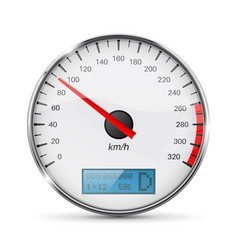speedometer speed gauge with metal frame vector image vector image