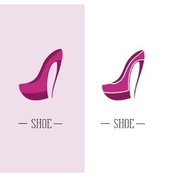 Stylized womens shoes logo shoe store vector
