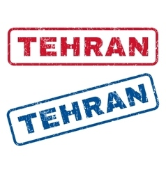 Tehran rubber stamps vector