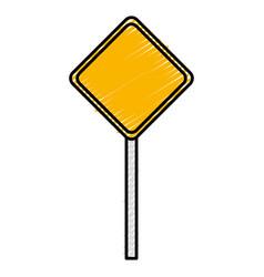 traffic signal diamond icon vector image