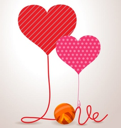 Valentine wool roll heart vector