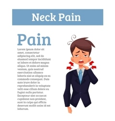 Work experiences pain in the neck vector image vector image