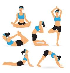 Woman Performing Yoga vector image