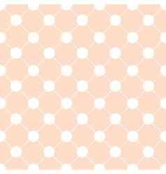 White Polka dot Chess Board Grid Orange vector image