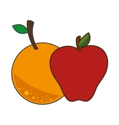 Healthy fruits food vector