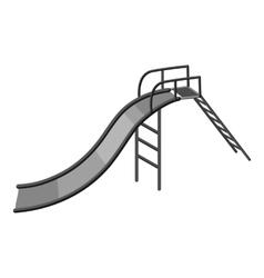Childrens slide icon gray monochrome style vector