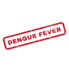 Dengue fever text rubber stamp vector