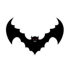 Bat isolated leech with wings flying vampire vector
