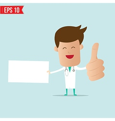 Doctor with blank board vector