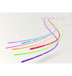 Abstract colorful bright streaming swoosh lines vector