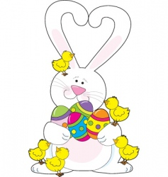Easter bunny love vector image