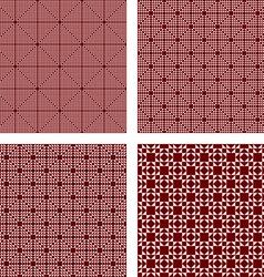 Seamless maroon triangle pattern set vector