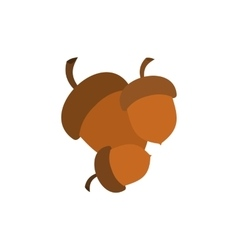 Acorns fork icon vector