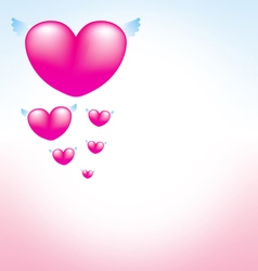 Love heart pink background 3 vector
