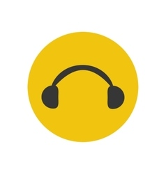 Headphones silhouette icon vector