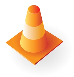 Isometric icon of traffic cone vector image