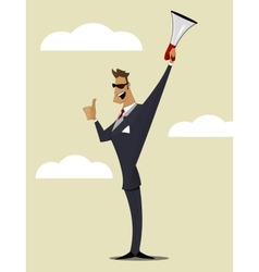 Abstract Businessman with Megaphone vector image vector image
