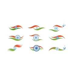 Abstract flag icons for India vector image