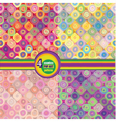 Abstract geometric seamless pattern bubble vector