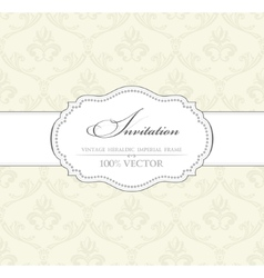Background vintage label banner flower frame vector
