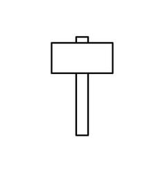 Big hummer icon vector