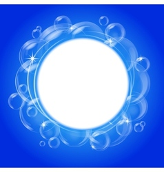 blue bubble background vector image