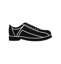 Bowling shoes in silhouette style vector