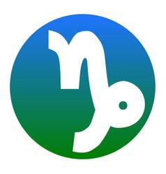 Capricorn sign white icon in vector