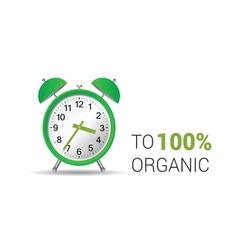 clock organic green vector image