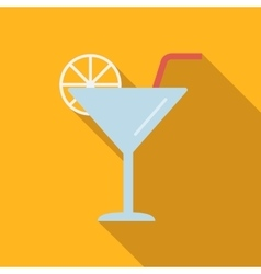 Coctail flat icon vector image vector image