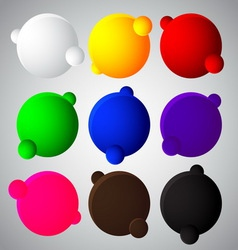 colorful bubble balls web button vector image vector image