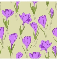 Crocus seamless patterm 3 vector