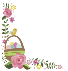 Easter frame element vector image