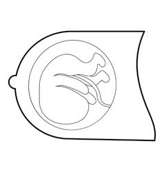 Fetus icon isometric 3d style vector