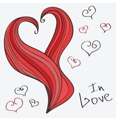 heart Romantic hand-drawn vector image