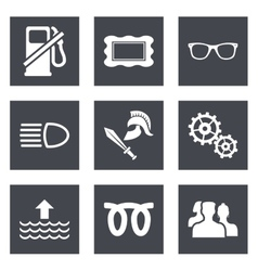 Icons for Web Design set 19 vector image vector image