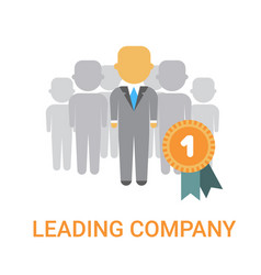 leading company manager icon business boss leader vector image vector image