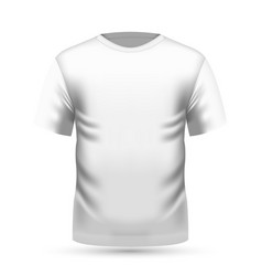 Mens white t-shirt in front view vector