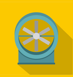 Metal electric fan icon flat style vector