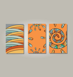 orange sun banners vector image vector image