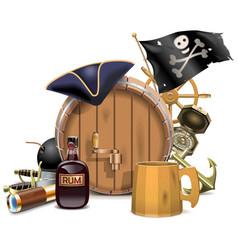 Pirate bar concept vector